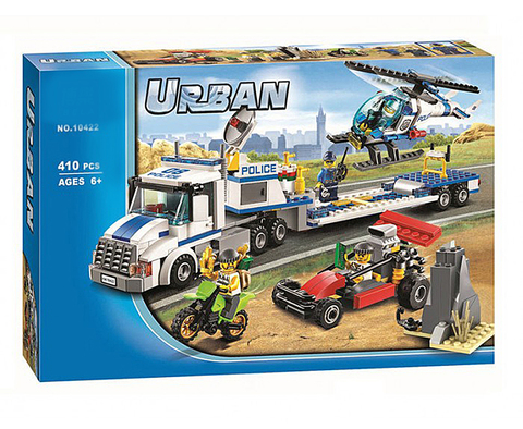 Конструктор Urban 10422 Полиция: Перевозчик вертолёта