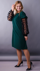 Віталіна. Святкова сукня великих розмірів. Смарагд.