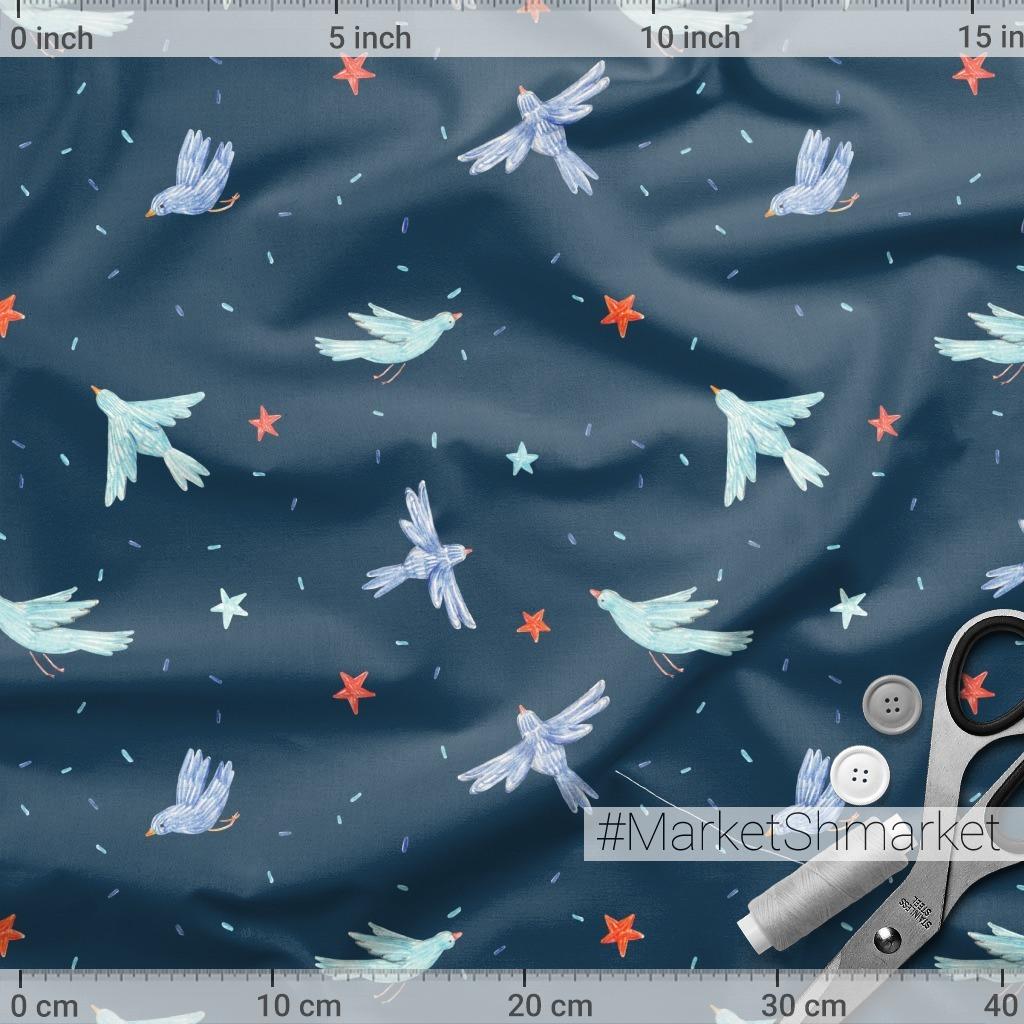 Синяя птица (темный фон)