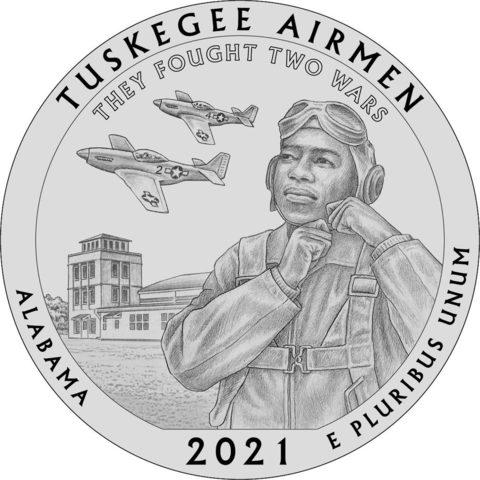 25 центов 56 - й парк США Национальное историческое место «Пилоты из Таскиги» (двор P)