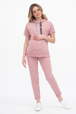 Спортивный костюм для беременных и кормящих 10621 розовый