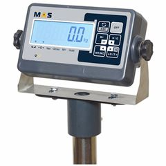 Весы товарные напольные MAS ProMAS PM1B-100 4560, RS232 (опция), 100кг, 10/20гр, 450*600, с поверкой, съемная стойка