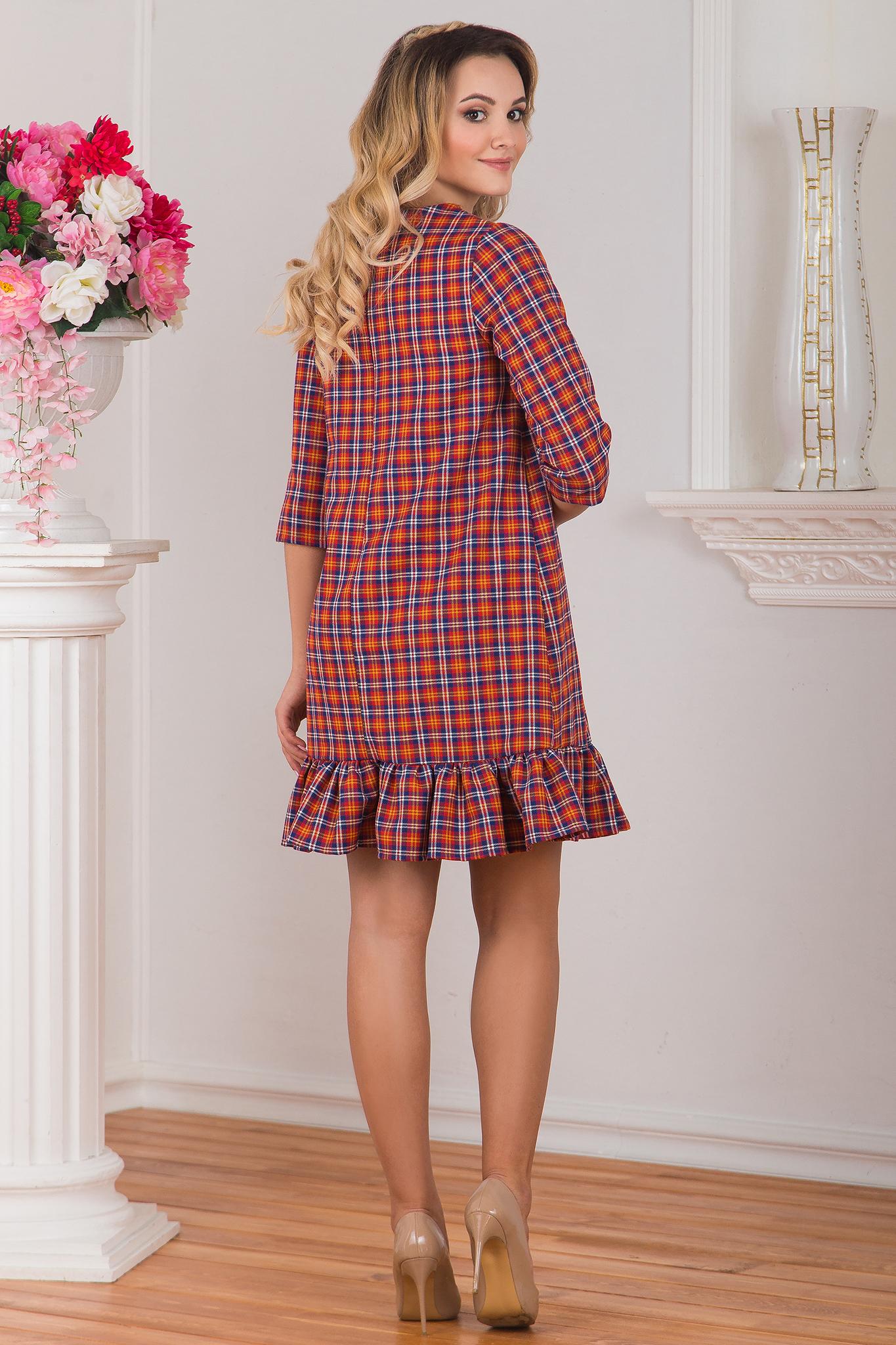 Платье клетчатое Конфетка вид сзади
