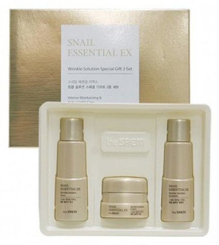 THE SAEM Snail Essential EX Wrinkle Solution Special Gift 3 Set Набор