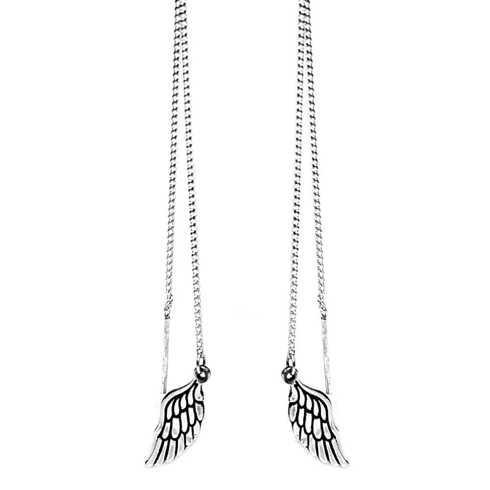Wing Earrings, Sterling Silver