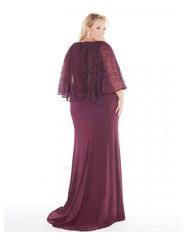 Josefina 1978 платье в пол винного цвета с рукавом средней длины