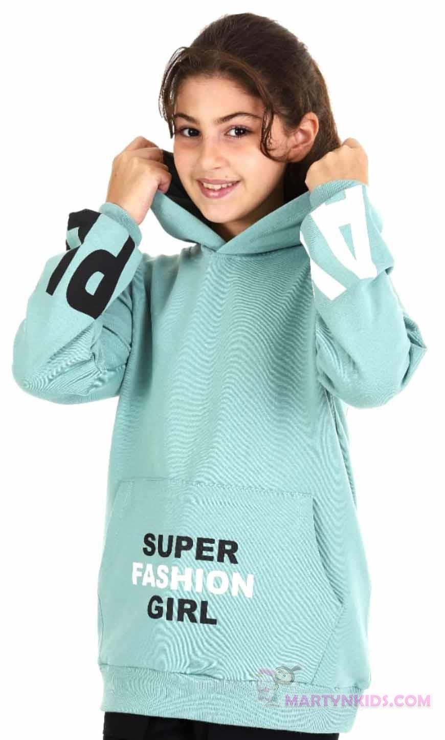 3790 свитшот легкий флис SUPER GIRL худи
