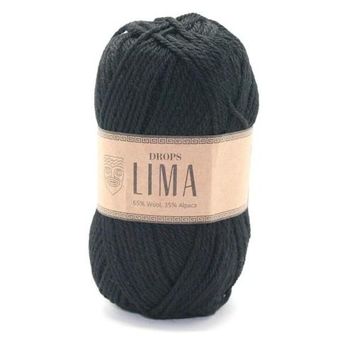 Пряжа Drops Lima 8903 черный