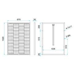 Размеры солнечной панели DELTA SM 100-12 P