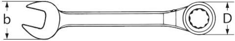 JOKER Switch Комбинированный гаечный ключ с трещоткой переключаемый, отогнут на 15°