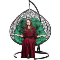 Двойное подвесное кресло GEMINI BLACK