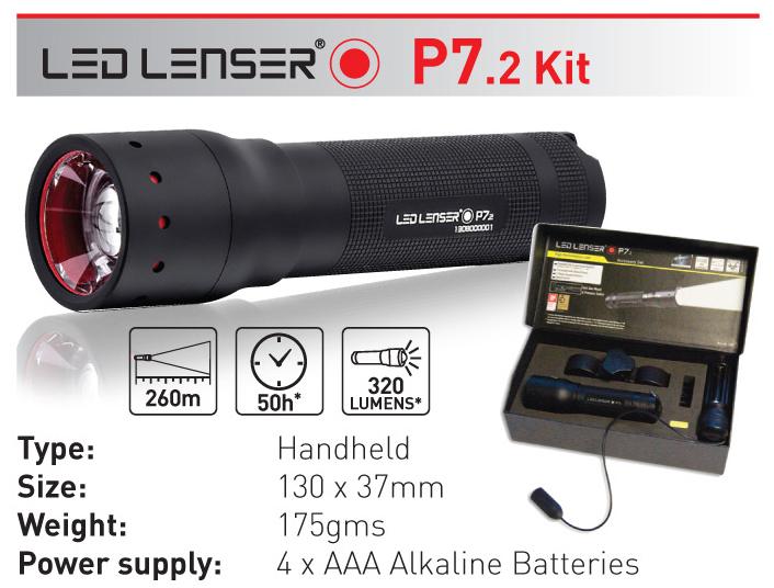 Светодиодный фонарь LED LENSER P7.2N (1200)