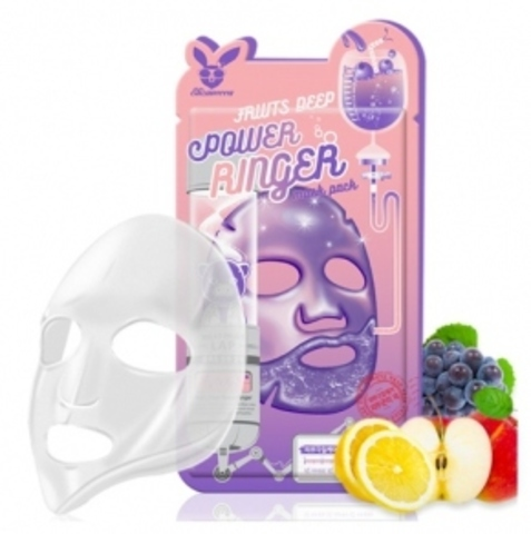 Elizavecca Тканевая маска для лица ФРУКТЫ Elizavecca Fruits Deep Power Ringer Mask Pack,23 мл.