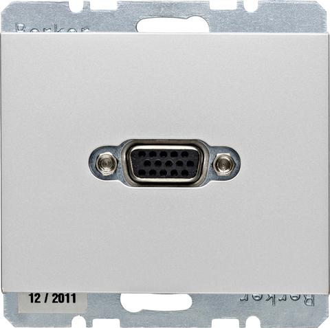 Розетка VGA (подключение к кабелю). Цвет Алюминий. Berker (Беркер). K.5. 3315417003. Цвет Алюминий. Berker (Беркер). K.5. 3315417003