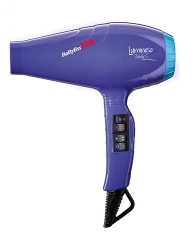 Фен BaByliss Pro Luminoso+, 2100 Вт, 2 насадки, фиолетовый