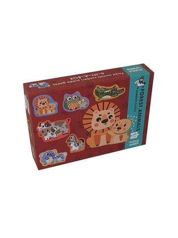 Развивающая головоломка PUZZLE GAMES Детеныш животного ищет маму 29 элементов 6 фигур