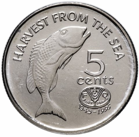 5 центов. 50 лет ФАО. Фиджи. 1995 год. UNC