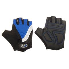 Велоперчатки JAFFSON SCG 46-0210 (чёрный/белый/синий)