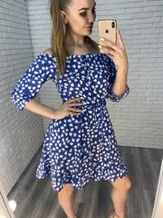 летнее платье плечи недорого