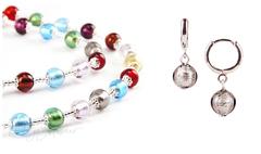 Комплект Carnavale Argento (серебристые серьги Piccolo, ожерелье)