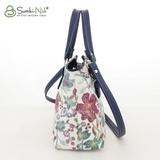 Сумка Саломея 457 цветы + синий