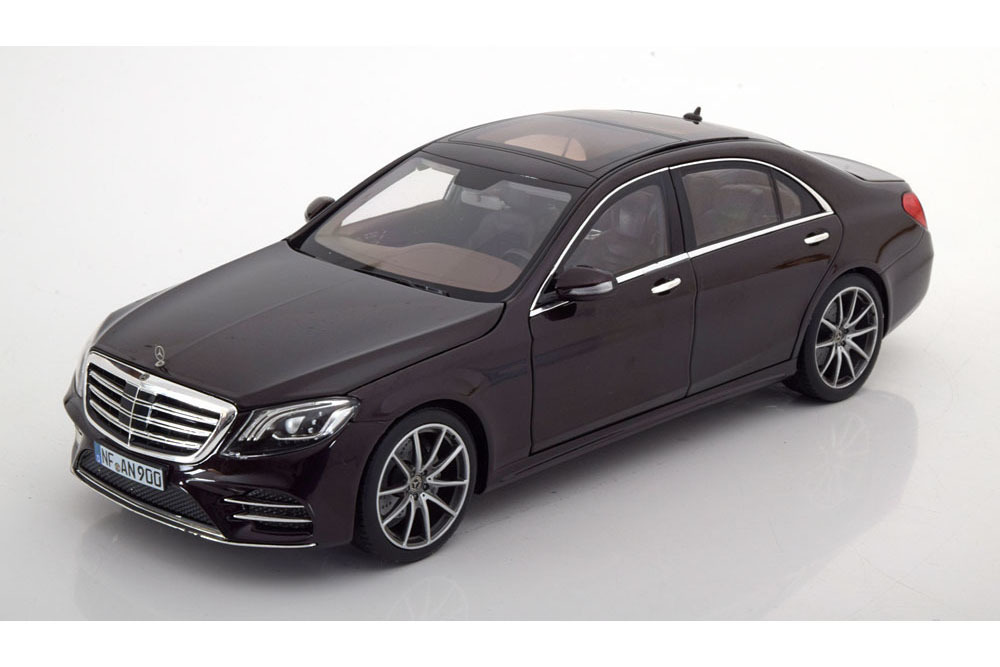 Коллекционная модель Mercedes-Benz W222 S-CLASS AMG-LINE 2018 RUBY BLACK METALLIC