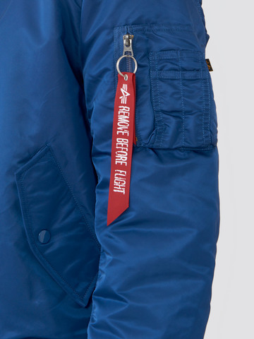 Куртка бомбер Alpha Industries MA-1 Slim Fit/European Blue №9/Orange (синяя)