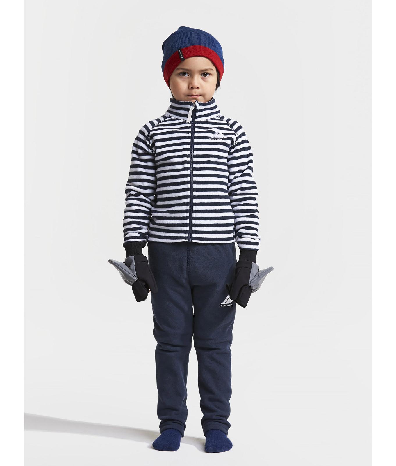 Детская куртка из флиса MONTE PRINT полоска синяя
