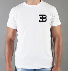 Футболка с принтом Bugatti (Бугатти) белая 008