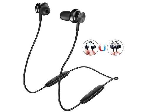 Langsdom / Bluetooth стереогарнитура L33 | черная водонепроницаемая для спорта