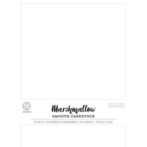 Набор белого бестекстурного кардстока А4- 50л. Colorbok Smooth Cardstock- Marshmallow