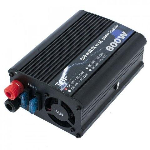 Инвертор 12-220V 800W 12 на 220вольт 800 Ват преобразователь напряжения YURNIX Юрникс