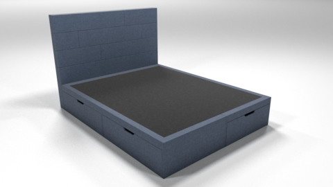 Кровать Домино без матраса (ткань savana серая)