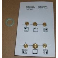 Комплект жиклеров на газовую плиту Беко с балонным газом  4431910023
