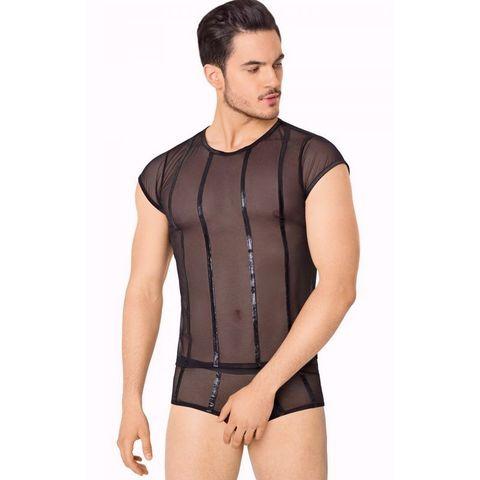 Прозрачный комплект белья для мужчин