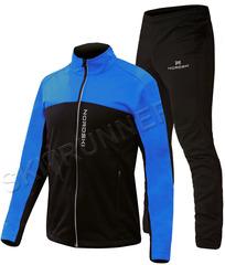 Детский утеплённый лыжный костюм Nordski Active Base Blue-Black 2020