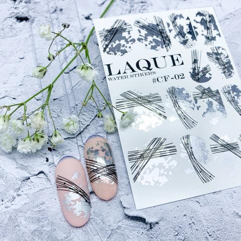 LAQUE Слайдер дизайн #CF-02 (SILVER+BLACK)