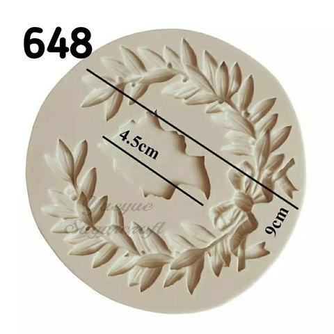 0648 молд силиконовый Лавровый венок