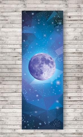 Коврик для йоги Moon Purple YY 178*61*0,3 см из микрофибры и каучука