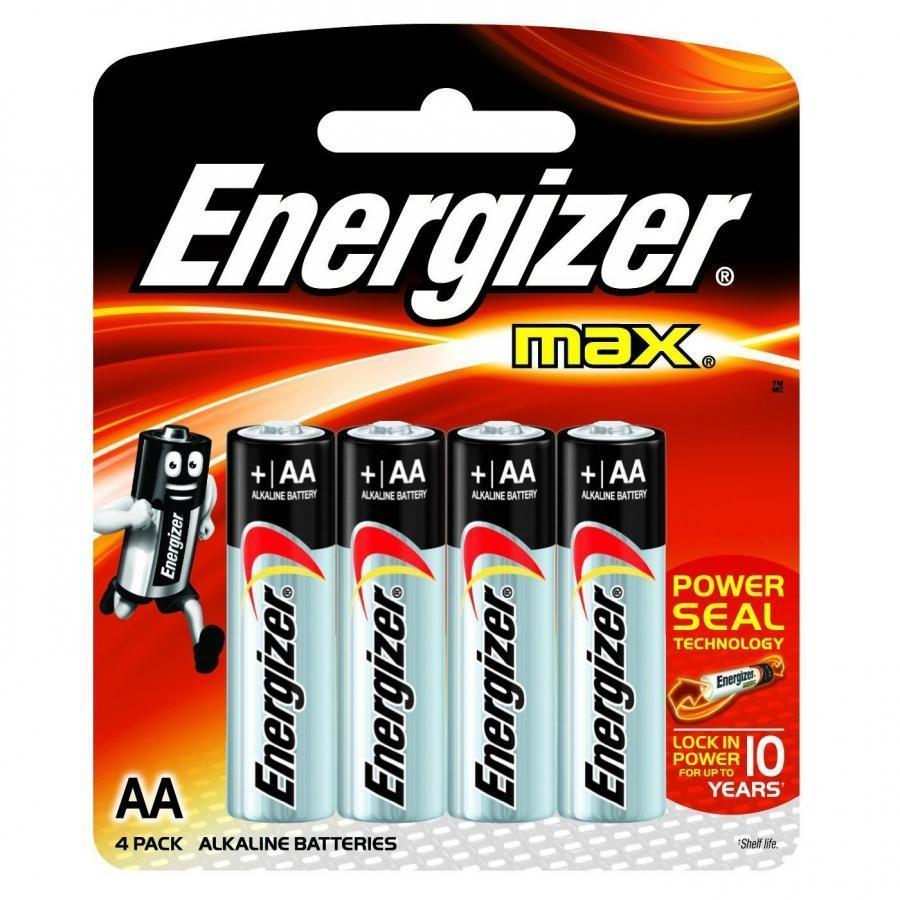 Батарейка Энерджайзер Макс E91/AA BP4 (4шт)