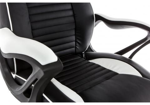 Офисное кресло для персонала и руководителя Компьютерное Leon черное / белое 68*68*128 Черный / белый