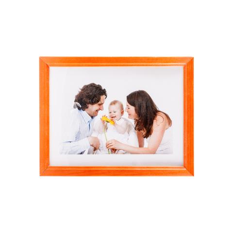 Фоторамка сосна  цветная 10х15 7N46 оранжевая