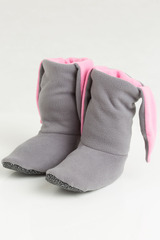 """Домашние носочки """"Зайчики серые с розовыми ушками"""""""