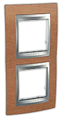 Рамка на 2 поста, вертикальная. Цвет Вишня. Schneider electric Unica Top. MGU66.004V.0M2
