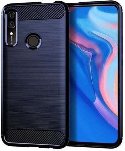 Чехол для Huawei P Smart Z (Y9 Prime 2019, Enjoy10 Plus, Honor 9X Premium) цвет Blue (синий), серия Carbon от Caseport
