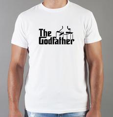 Футболка с принтом Крёстный отец (The Godfather, Корлеоне) белая 010
