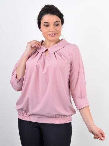 Біата. Ошатна жіноча блузка великих розмірів. Персик.
