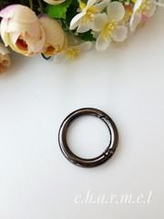 Карабин-кольцо темный никель, d 30 мм