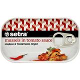 Setra Мидии в пикантном томатном соусе, 110 г