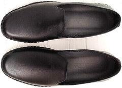 Мужские осенние туфли слипоны кожа smart casual Broni M36-01 Black.